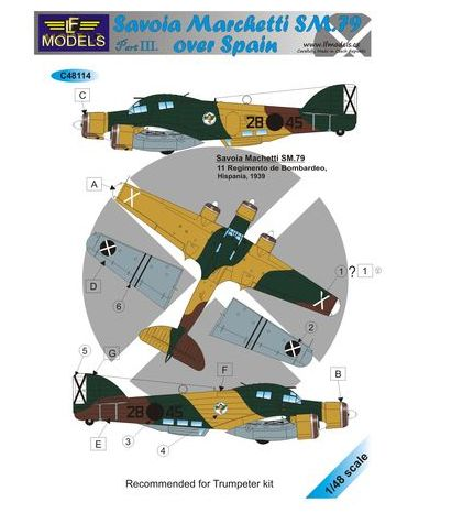 1/48 SM.79 over Spain - Part III. (for Trumpeter)