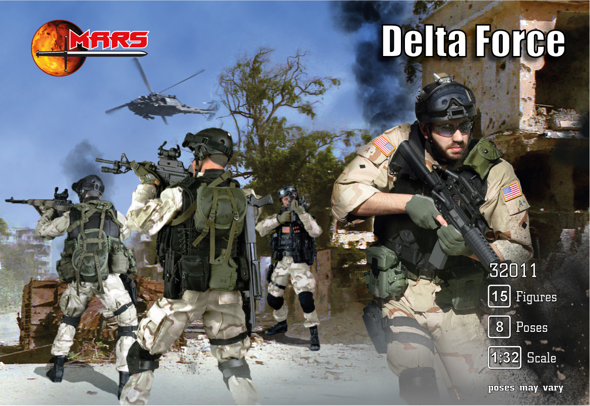 1/32 Delta Force figures