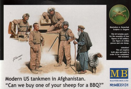 1/35 Modern US Tankmen in Afghanistan 'Sheep for the BBQ'