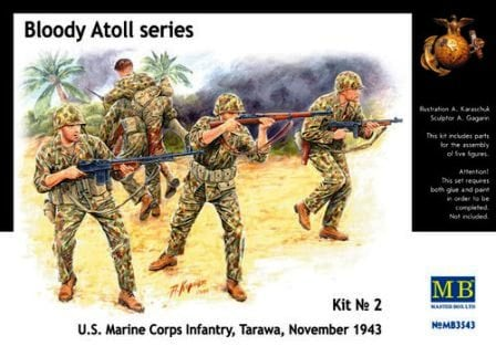 1/35 Bloody Atoll series Kit No 2 U.S. Marine Corps Infantry