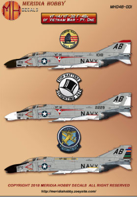 1/48 McDonnell F-4B Phantom Tophatters and Swordsmen