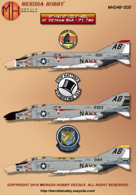 1/48 Vietnam McDonnell F-4B Phantom Tophatters and Swordsmen