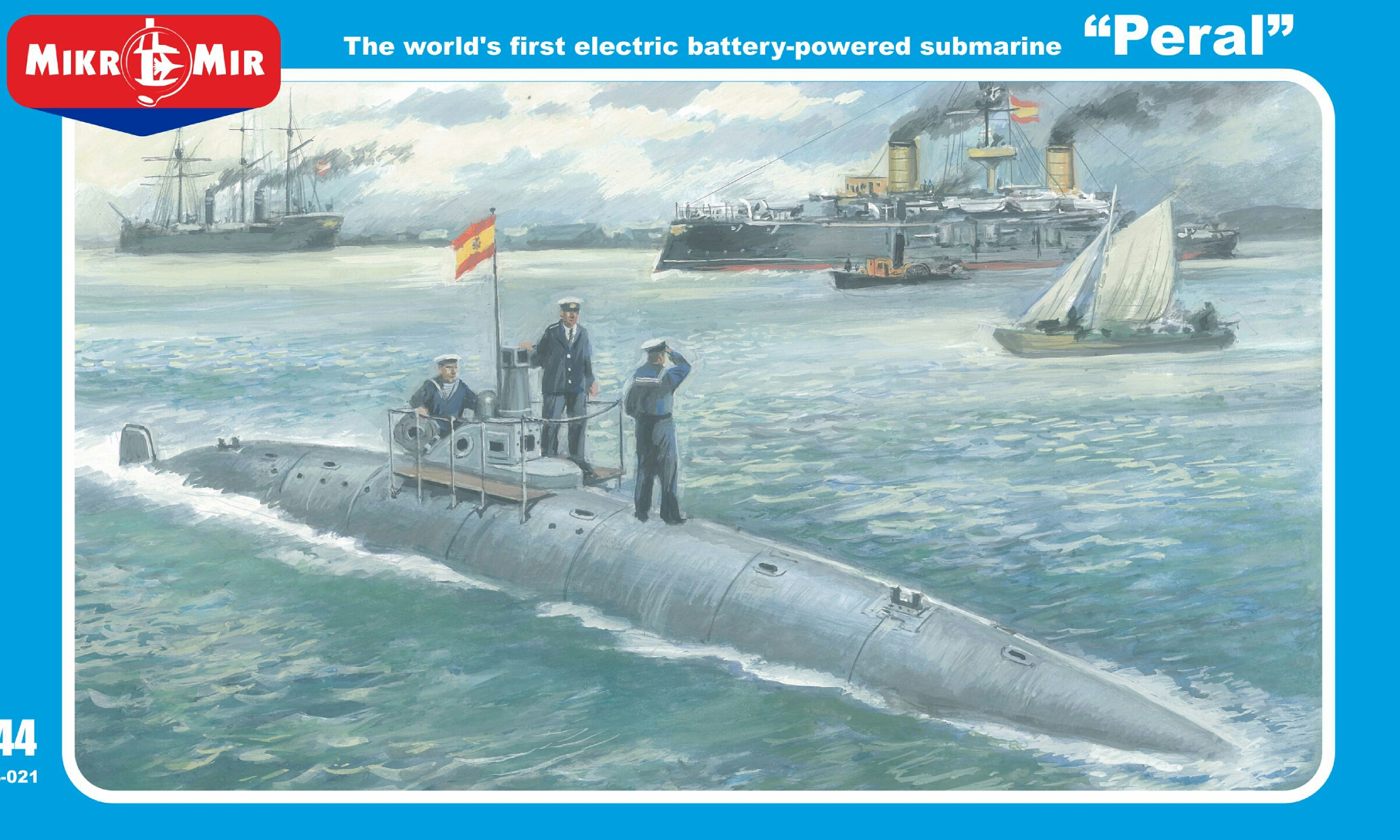 1/144 Peral The worlds first electric powered submarine