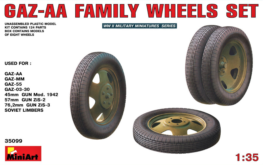 1/35 GAZ-AA Family Wheels Set