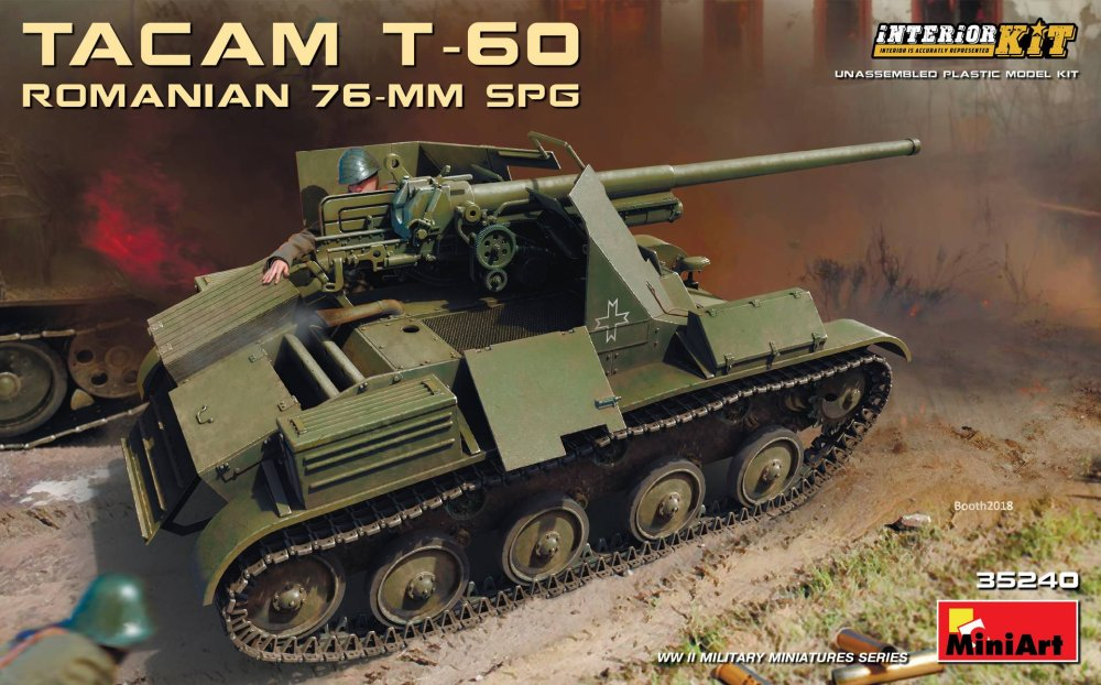 1/35 Tacam T-60 Romanian 76-mm SPG with Interior