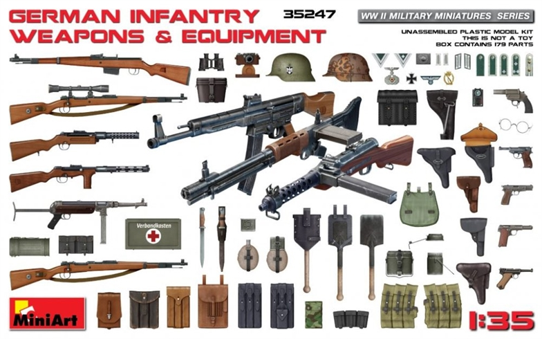 1/35 German Infantry Weapons & Equipment