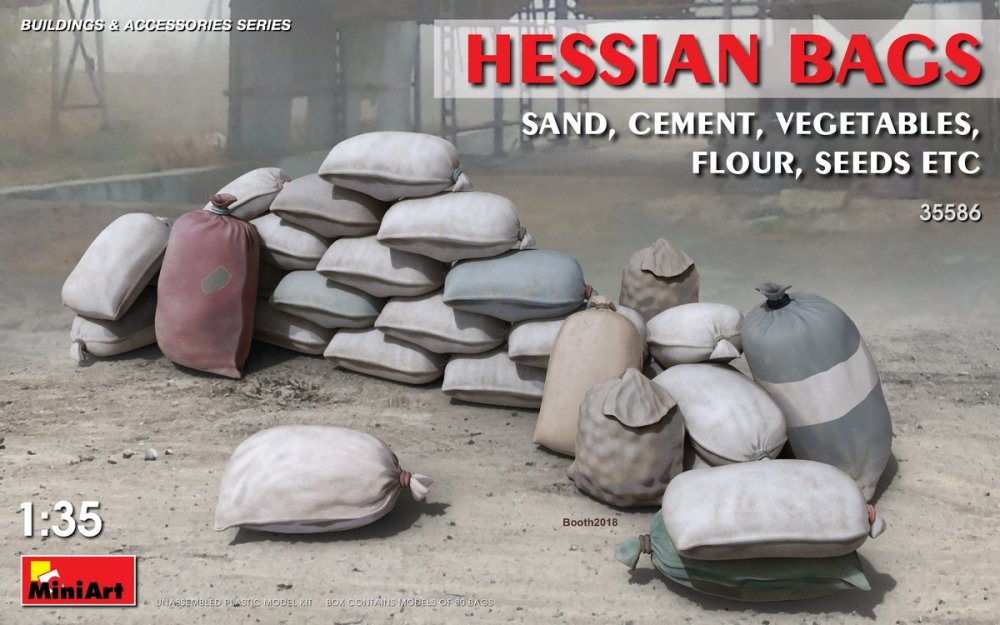 1/35 Hessian sand Bags, cement