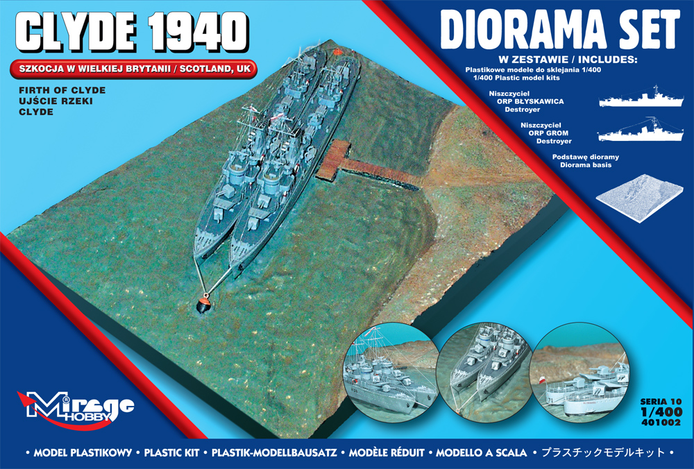1/400 Firth Of Clyde diorama 1940
