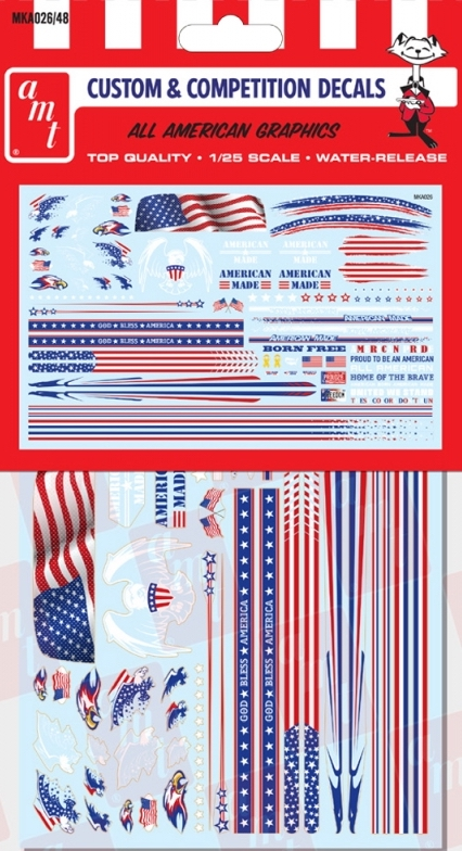 1/24, 1/25 All American Graphics Custom Decals