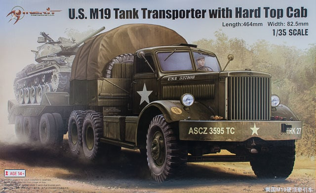 1/35 U.S. M19 Tank Transporter with Hard Top Cab