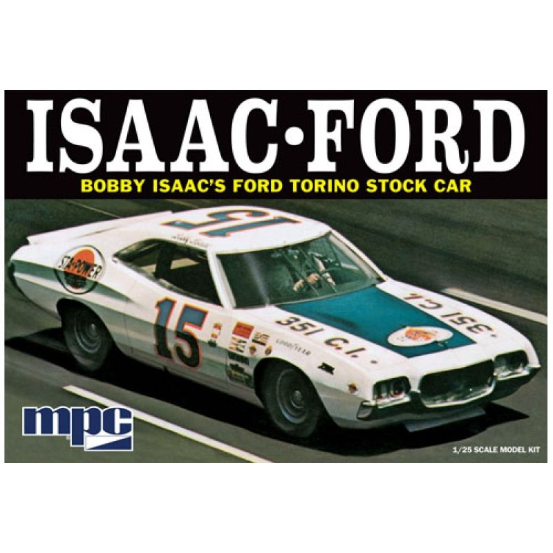 1 25 1972 bobby isaac ford torino stock car 1 25 voiture. Black Bedroom Furniture Sets. Home Design Ideas