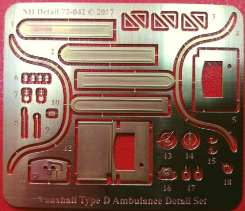 1/72 Vauxhall Type D Ambulance Detail Set
