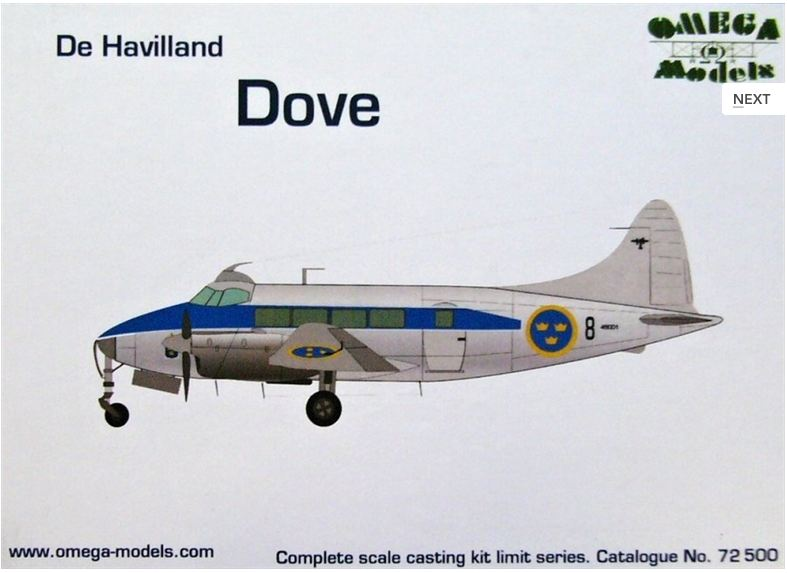 1/72 De Havilland DOVE (Sweden)