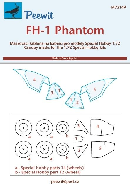 1/72 Canopy mask FH-1 Phantom