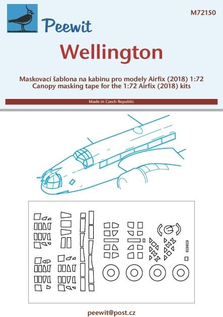 1/72 Canopy mask Wellington