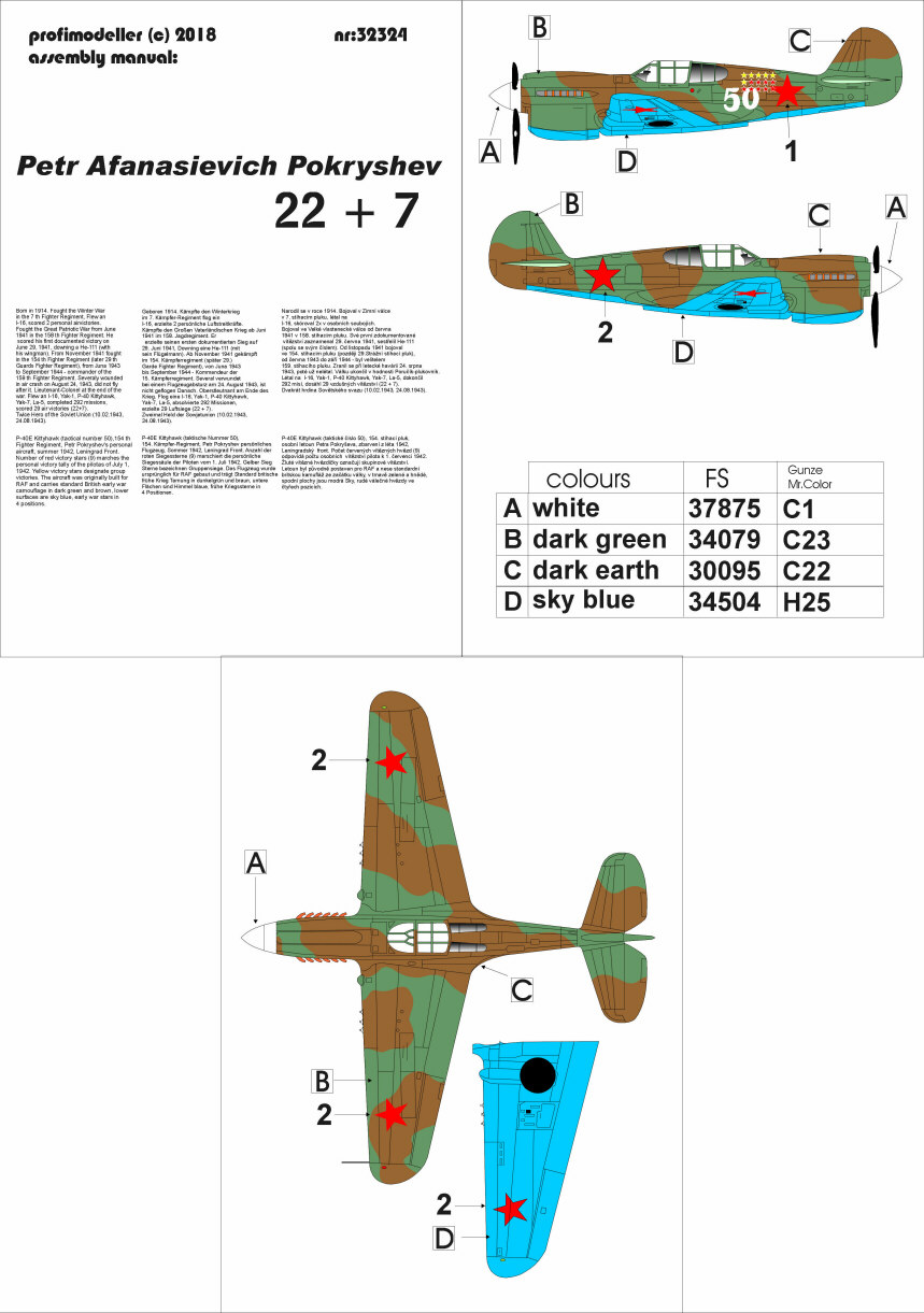 1/32 Curtiss P-40 Pokryshev Born in 1914