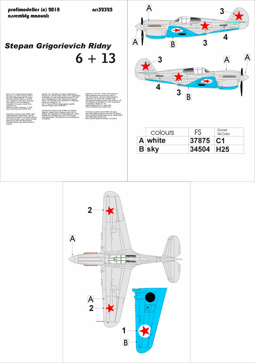 1/32 P-40 S.G.Ridny decals Born in 1917