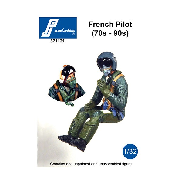 1/32 Modern French pilot of the 70s to 90s ideal for Mirage IIIE