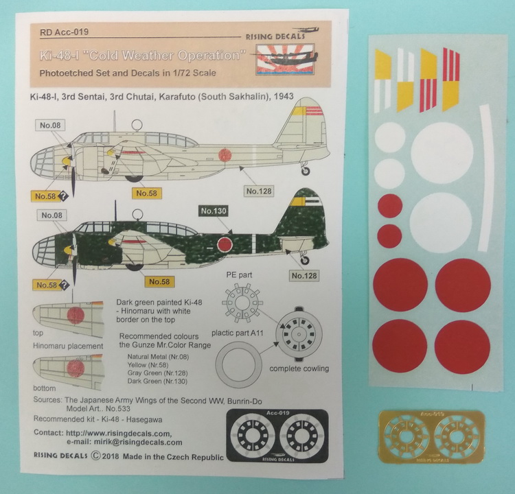 1/72 Kawasaki Ki-48-I Cold Weather Operation with photoetched