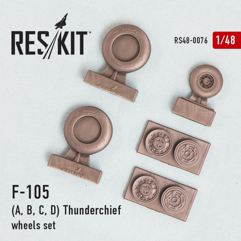1/48 Republic F-105A/F-105B/F-105C/F-105D) Thunderchief wheels