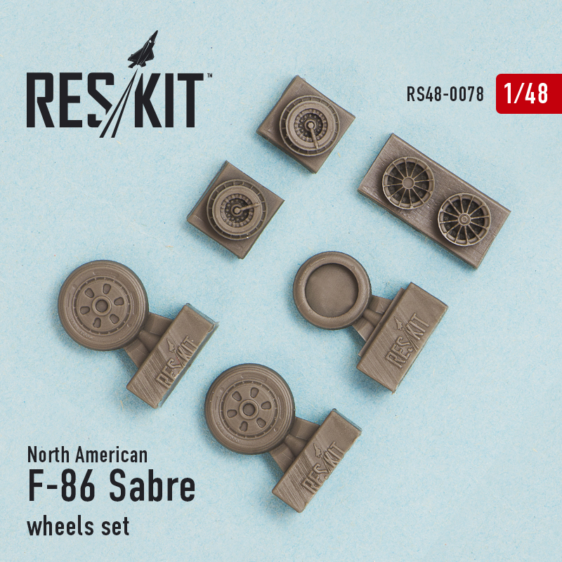 1/48 North-American F-86 Sabre wheels set
