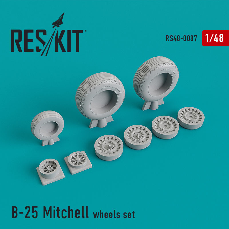 1/48 North-American B-25 Mitchell wheels set