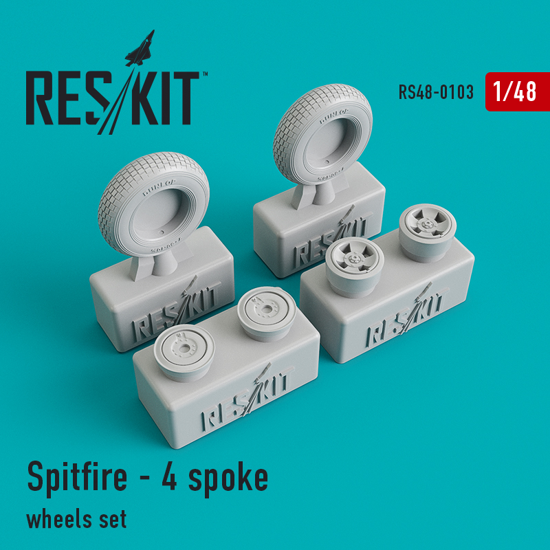 1/48 Supermarine Spitfire - 4 spoke wheels set