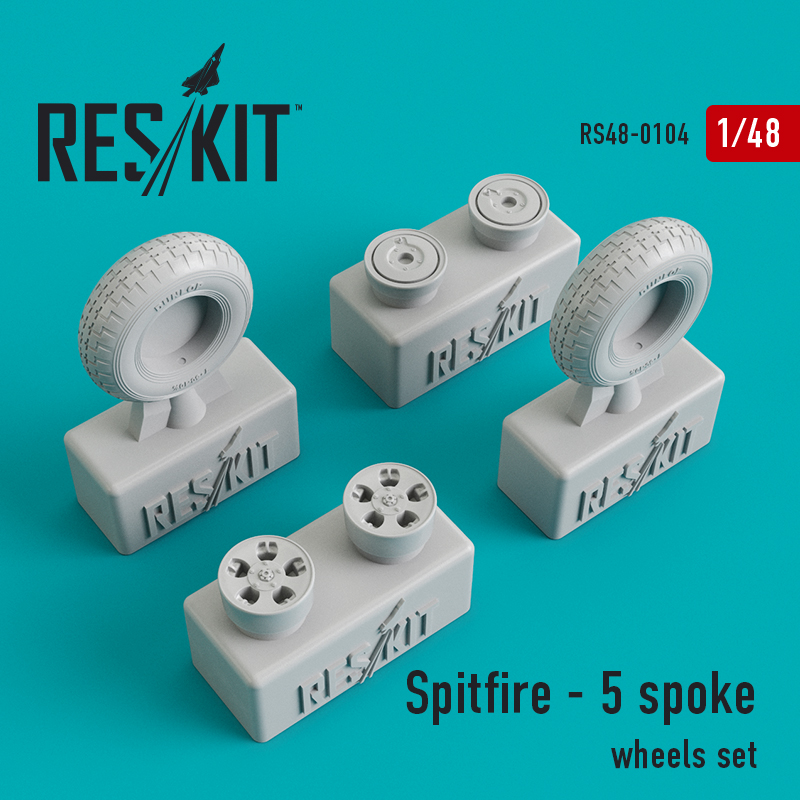 1/48 Supermarine Spitfire - 5 spoke wheels set