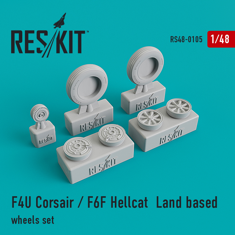 1/48 Vought F4U Corsair/Grumman F6F Hellcat Land based wheels