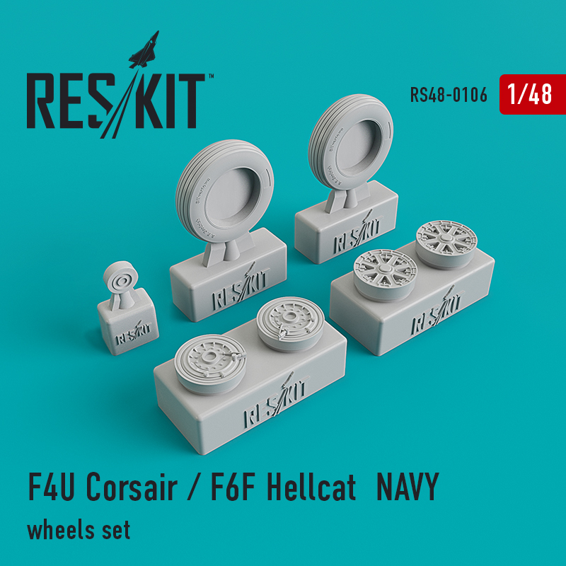 1/48 Vought F4U Corsair/Grumman F6F Hellcat Naval based wheels