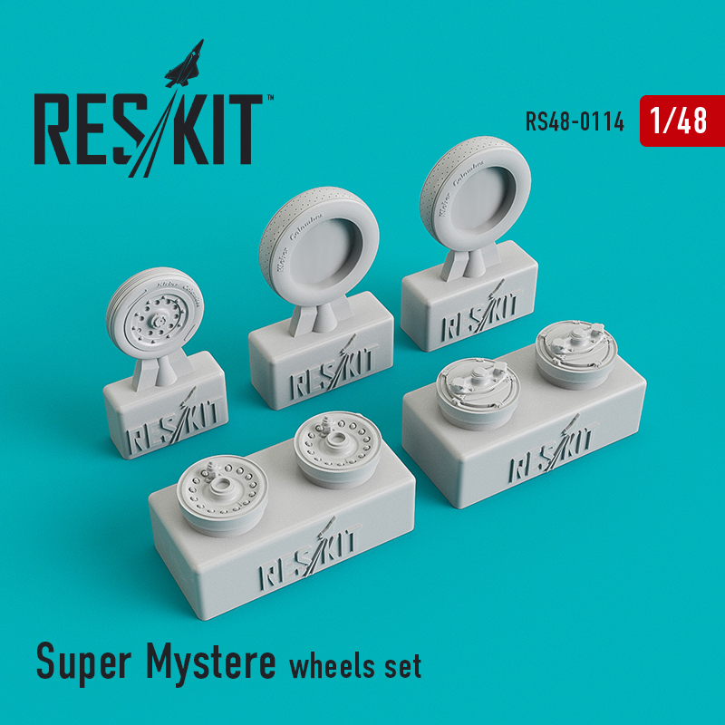 1/48 Dassault Super Mystere B.2 wheel set