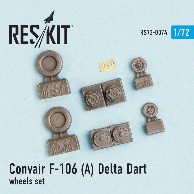 1/72 Convair F-106 Delta Dart wheels set
