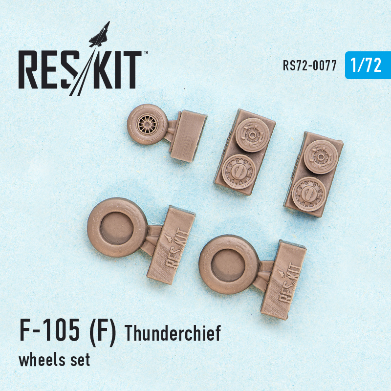 1/72 Republic F-105F Thunderchief wheels set