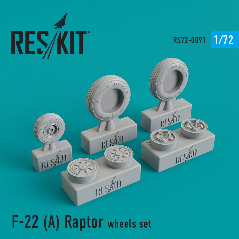 1/72 F-22A Raptor wheels set