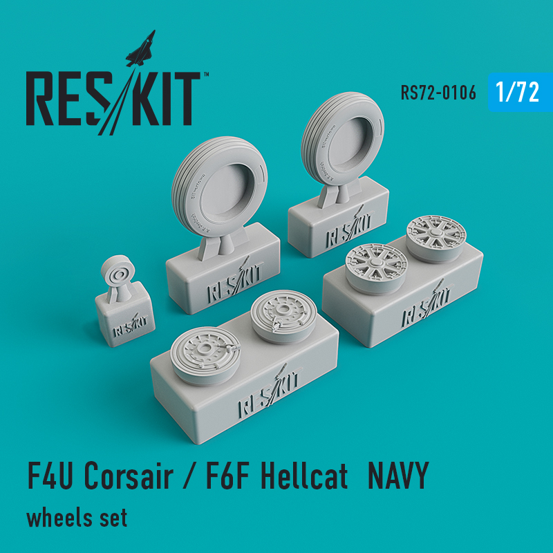 1/72 Vought F4U Corsair / Grumman F6F Hellcat Naval based wheels