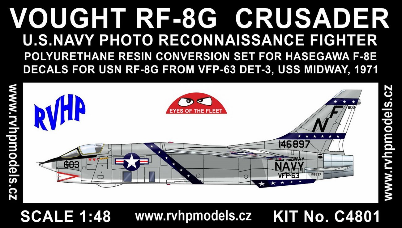 1/48 Vought RF-8G Crusader conversion