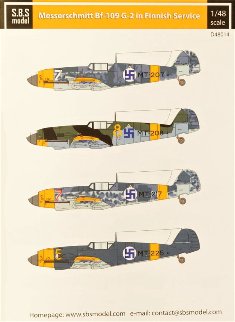 1/48 Decal Bf-109G-2 in Finnish service