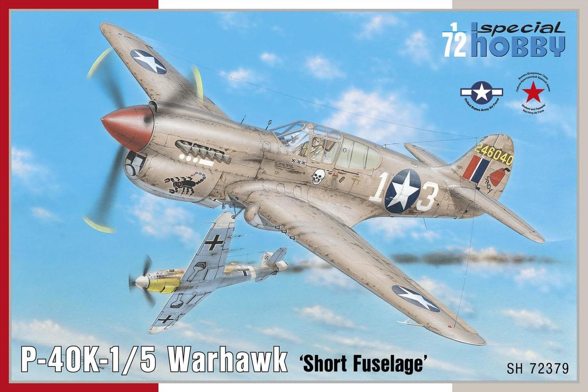 1/72 Curtiss P-40K-1/5 Warhawk A model of the P-40K-1/5 Warhawk