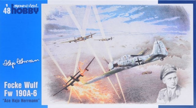 1/48 Focke-Wulf Fw 190A-6 with Hermann Bust & signed Poster