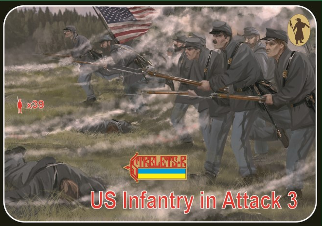 1/72 Union Infantry in Attack 3 Gettisburg
