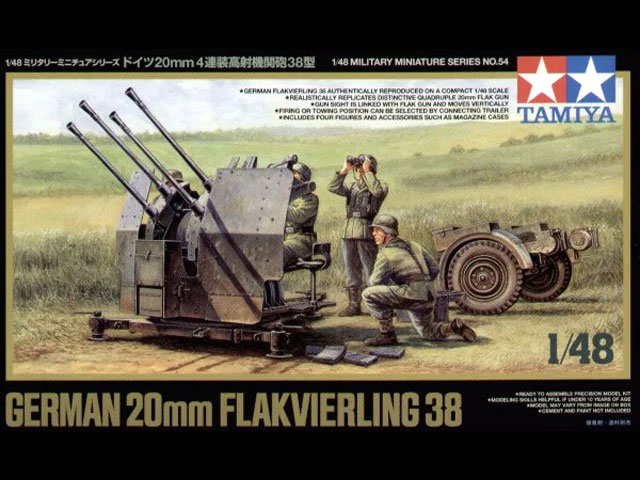 1/48 German 20mm Flakvierling 38