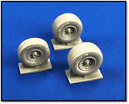 1/48 North-American/Rockwell OV-10D bronco wheel set