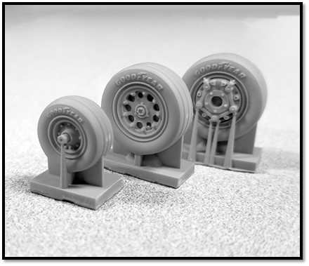 1/72 Northrop F-5E Resin wheel set