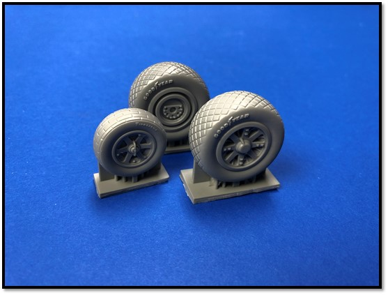 1/72 Lockheed P-38 Lightning wheel set