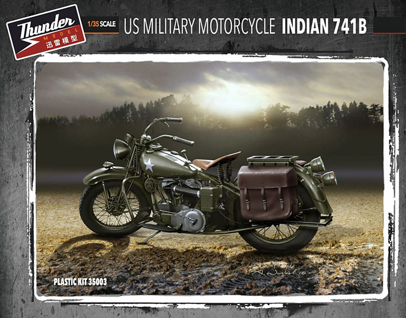 1/35 U.S. Military Motorcycle Indian 741B