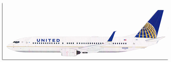 1/72 Boeing 737-880 latest CFM56 engines with the longer engine