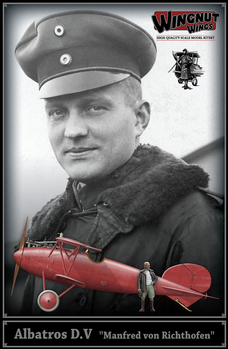 1/32 Albatros D.V with Manfred von Richthofen figure