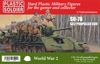 1/72 3x Russian SU-76 self propelled gun