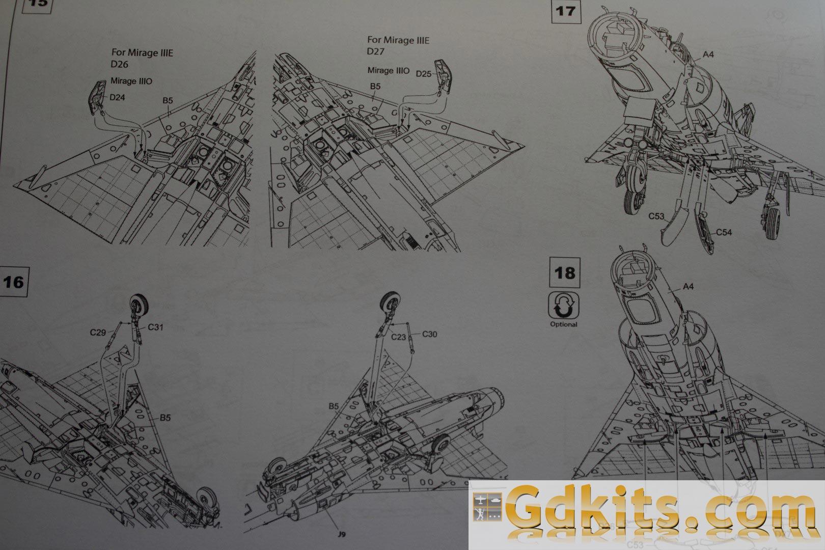 News gdkits : Mirage III E/R... S/RS au 1/48 - Kinetic Gdkits_mirage_16
