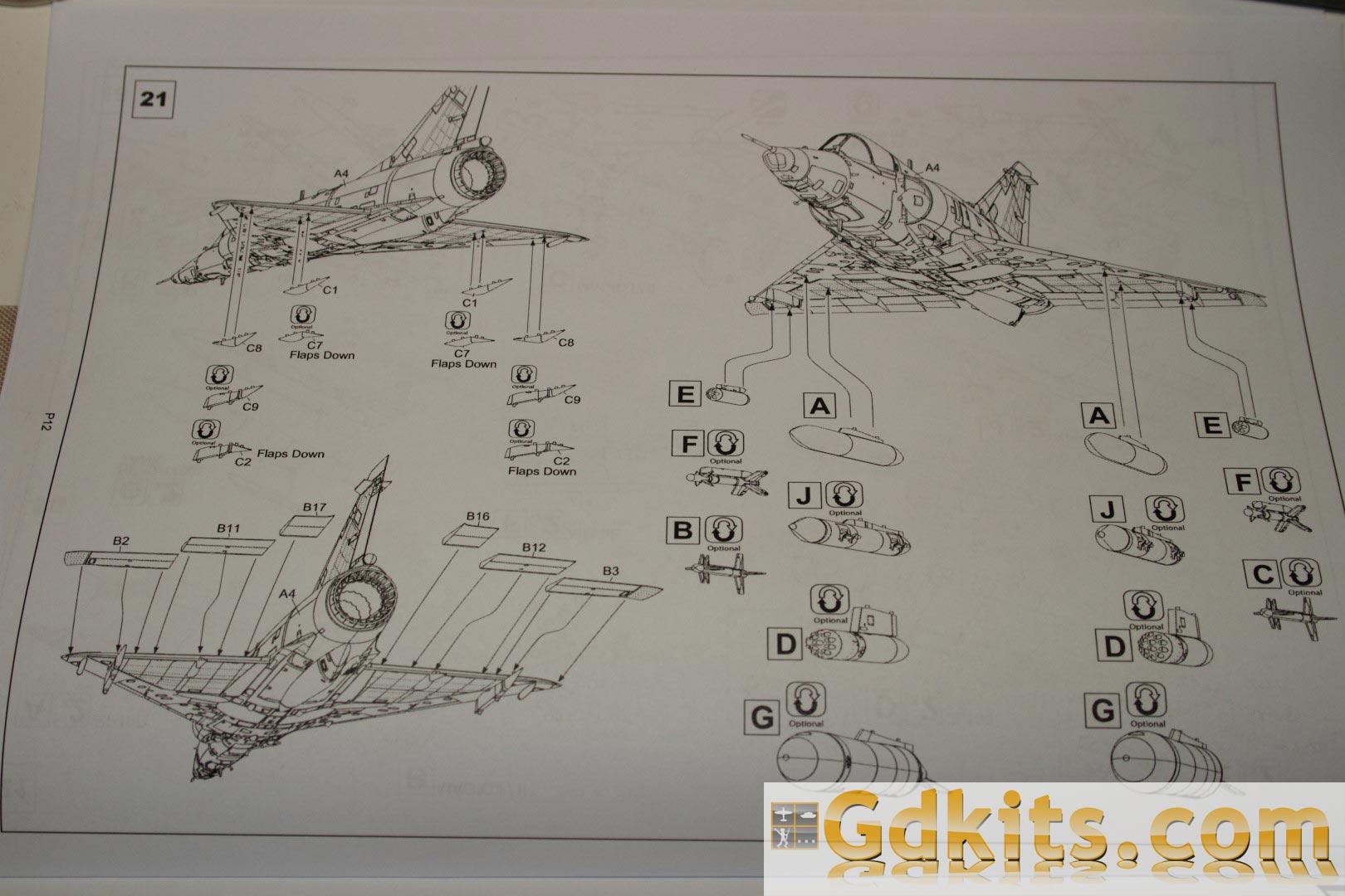 News gdkits : Mirage III E/R... S/RS au 1/48 - Kinetic Gdkits_mirage_17